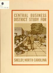 Central business district study for Shelby, North Carolina by North Carolina. Division of Community Planning