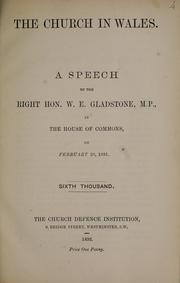 The Church in Wales by Gladstone, W. E.