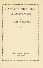 Cover of: Captain Nicholas by Hugh Walpole