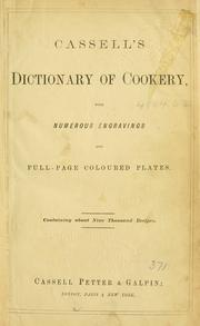 Cover of: Cassell's dictionary of cookery by