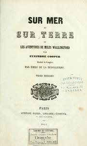 Cover of: Sur mer et sur terre by James Fenimore Cooper