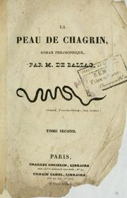 Cover of: La peau de chagrin by Honoré de Balzac