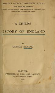 A child's history of England by Joss Whedon