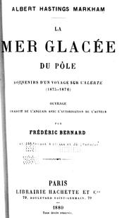 La mer glace du ple by Markham, Albert Hastings Sir