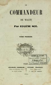 Cover of: Le commandeur de Malte by Eugène Sue