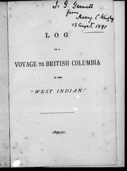 "Log of a voyage to British Columbia in the ""West Indian"" by Howard Wrigley"
