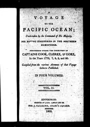 Cover of: A voyage to the Pacific Ocean by compiled from the various accounts of that voyage hitherto published.