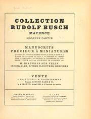 Collection Rudolf Busch, Mayence by Rudolf Busch
