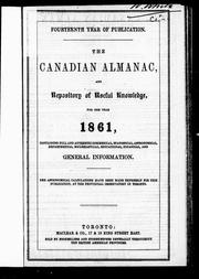 The Canadian almanac and repository of useful knowledge for the year 1861 by