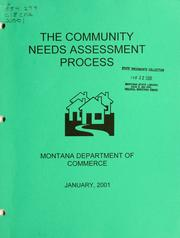 The community needs assessment process by Montana. Dept. of Commerce