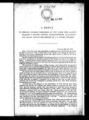 Cover of: A reply to certain charges preferred by Rev. Jabez Sims, against Charles T. Dupont, visiting superintendent at Manitoulin Island, and to the report of S.H. Strong thereon by C. T. Dupont