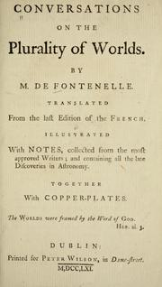 Conversations on the plurality of worlds by Fontenelle M. de