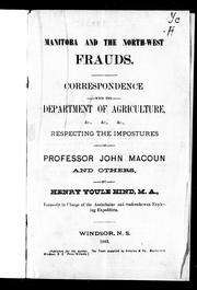 Manitoba and the North-West frauds by Hind, Henry Youle
