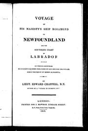 Cover of: Voyage of His Majesty's ship Rosamond to Newfoundland and the southern coast of Labrador by Edward Chappell