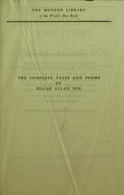 Cover of: The complete tales and poems of Edgar Allan Poe by Edgar Allan Poe