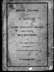 A lecture on Queen Charlotte Islands by