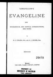 Longfellow's Evangeline by Henry Wadsworth Longfellow
