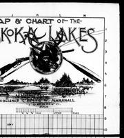 Map and chart of the Muskoka Lakes by