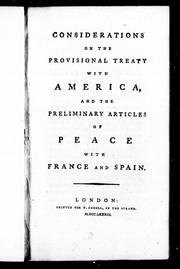 Considerations on the provisional treaty with America by Andrew Kippis