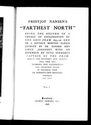 Cover of: Fridtjof Nansen&#39;s &quot;Farthest north&quot; by with an appendix by Otto Sverdrup.