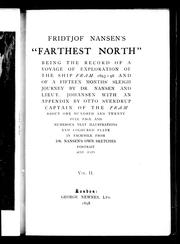 "Cover of: Fridtjof Nansen's ""Farthest north"" by with an appendix by Otto Sverdrup."