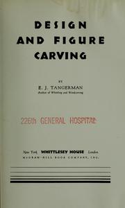 Design and figure carving by E. J. Tangerman