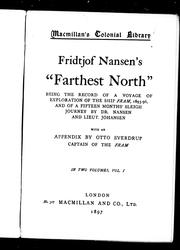 Cover of: Fridtjof Nansen&#39;s &quot;Farthest north&quot; by Fridtjof Nansen
