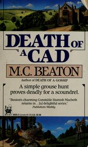Cover of: Death of a cad by M. C. Beaton