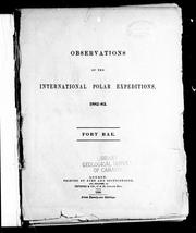 Observations of the International Polar Expeditions, 1882-83 by International Polar Expedition