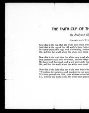 Cover of: The faith-cup of the white men by Rudyard Kipling