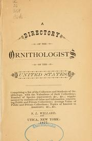 directory of the ornithologists of the United States