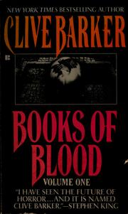 Cover of: Books of blood by Clive Barker