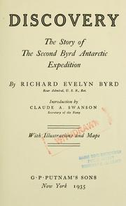 Cover of: Discovery by Richard Evelyn Byrd