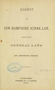 Digest of New Hampshire school law by 