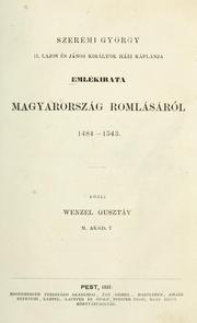 Emlkirata Magyarorszg romlsrl, 1484-1543 by Gyrgy Szermi