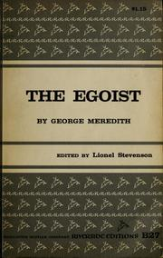 The egoist by George Meredith