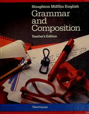 Cover of: English Grammar and composition by