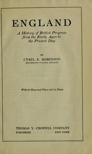 Cover of: England by Cyril Edward Robinson