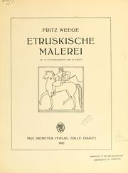 Etruskische Malerei by Fritz Weege
