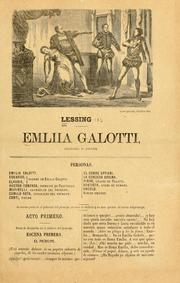 Cover of: Emiliia [i.e. Emilia] Galotti by Gotthold Ephraim Lessing