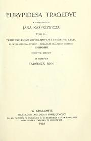 Cover of: Eurypidesa tragedye by Euripides