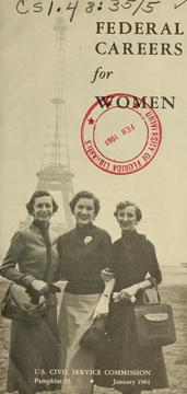 Cover of: Federal careers for women by United States Civil Service Commission.