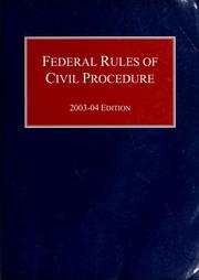 Federal rules of civil procedure by United States. Supreme Court.