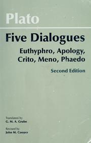 Cover of: Five dialogues by Plato