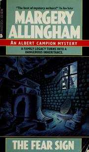 Cover of: The fear sign by Margery Allingham