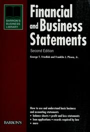 Cover of: Financial and business statements by G. Thomas Friedlob