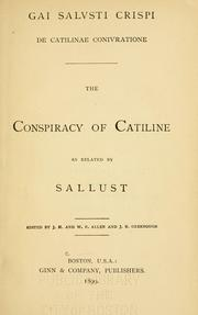 Bellum Catilinae by Sallust