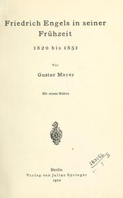 Friedrich Engels by Gustav Mayer