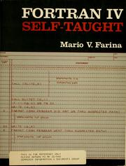 Fortran IV self-taught by Mario V. Farina