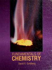 Cover of: Fundamentals of chemistry by Goldberg, David E.